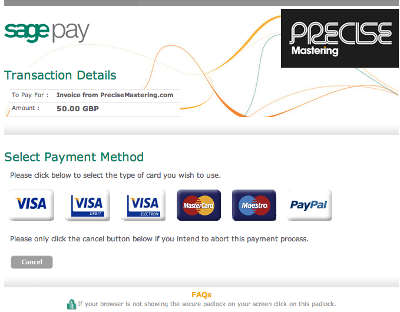 Precise Payment Area